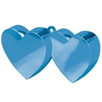 Blue Double Heart Balloon Weights 170g/6oz - 12 PC