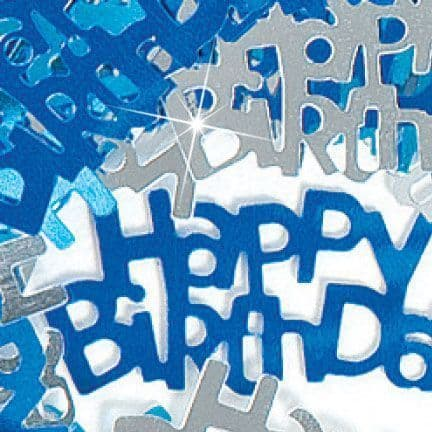 BLUE HAPPY BIRTHDAY .5 OZ. FOIL AGE CONFETTI