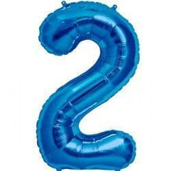 "BLUE NUMBER 2 SHAPE 16"" PKT"