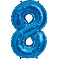 "BLUE NUMBER 8 SHAPE 16"" PKT"