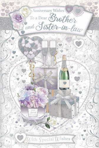 Brother & Sister-In-Law Anniversary Trad - DL75069A/01 - CODE 75 6 Pack hand finished