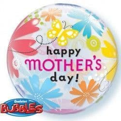 """BUTTERFLY FLORAL MOTHER'S DAY 22"""" SINGLE BUBBLE"""
