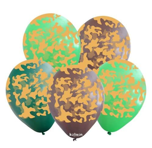 Camouflage Printed Latex Balloons (25ct)