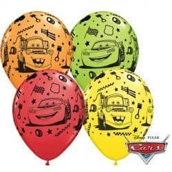 """CARS LIGHTNING McQUEEN & MATER 11"""" RED, ORANGE, LIME GREEN & YELLOW (25CT)"""