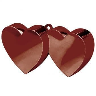 Chocolate Double Heart Balloon Weights 170g/6oz - 12 PC