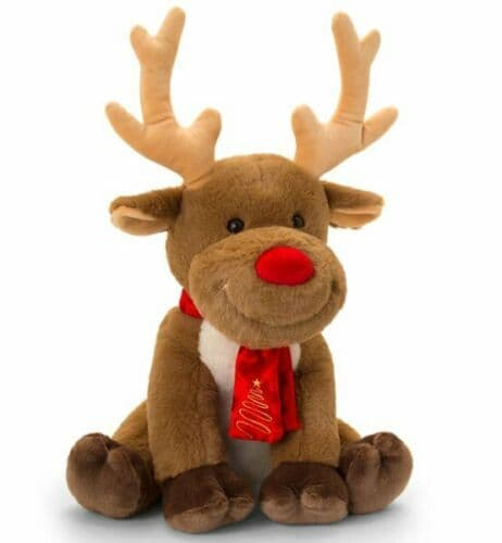 CHRISTMAS REINDEER with Scarf 20cm SOFT TOY