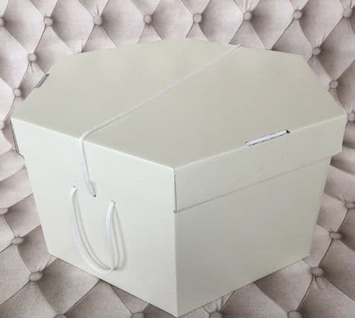 "Cream Hat Box 11"" x 8""  279mm x 203mm"