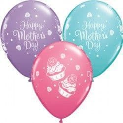 """CUPCAKES MOTHER'S DAY 11"""" CARIBBEAN BLUE, ROSE & SPRING LILAC (25CT)"""