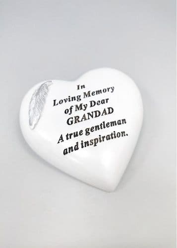 Dad with Feather Heart Plaque