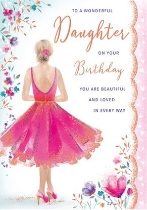 Daughter Birthday Panache code 90 x 6 cards