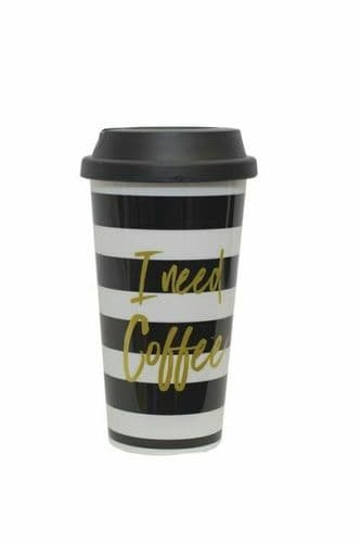 DESIGN BY VIOLET NOIRE 450ml DOUBLE WALLED Gift TRAVEL MUG