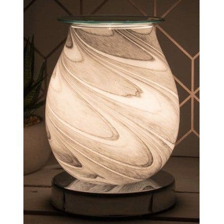 Desire Grey Marble Glass Aroma Electric Touch Lamp Wax Melt Oil Burner