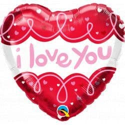"DOODLE LOOPS I LOVE YOU 18"" PKT"