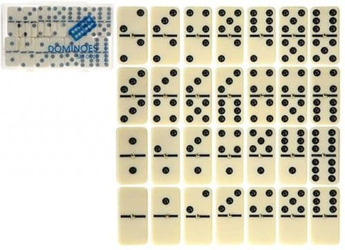 DOUBLE 6 DOMINOES WITH SPINNER