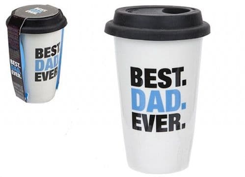 DOUBLE WALL CUP WITH LID BEST DAD DESIGN 320ML