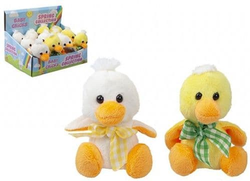 """Easter Chick Plush 4"""" with hang tag"""