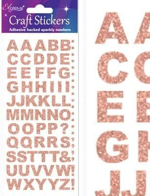 Eleganza Craft Stickers Bold Alphabet Set Rose Gold No.87