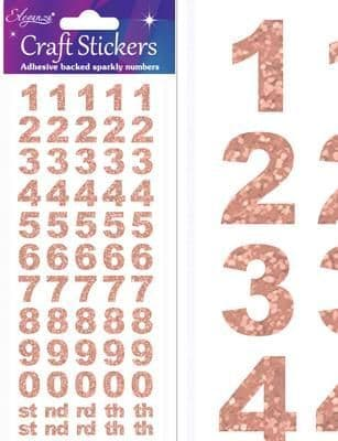Eleganza Craft Stickers Bold Number Set Rose Gold No.87
