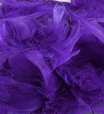 Eleganza Feathers Mixed sizes 3inch-5inch 50g bag Purple No.36