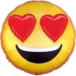 """EMOTICON WITH HEART EYES 3D EZ-FILL SHAPE P60 PKT (28"""" x 28"""")"""