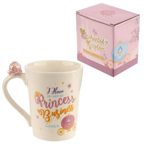 Enchanted Kingdom Princess Slogan Gift Mug with Carriage on Handle