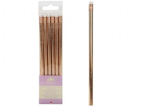 ERASER TOPPED ROSE GOLD PENCIL