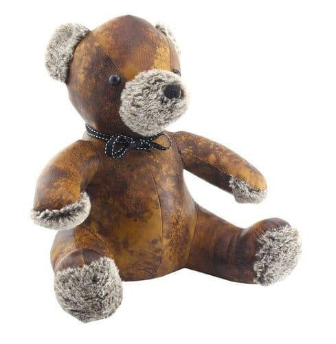 FAUX LEATHER TEDDY DOORSTOP gift