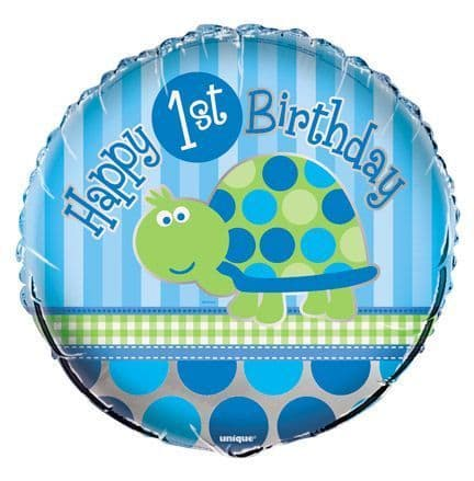 FIRST BIRTHDAY TURTLE FOIL BALLOON