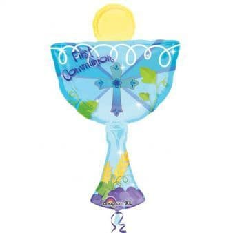 First Communion Blue Chalice SuperShape