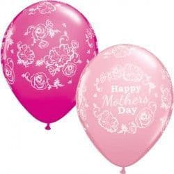 """FLORAL DAMASK MOTHER'S DAY 11"""" PINK & WILD BERRY (25CT)"""