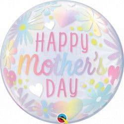 """FLORAL PASTEL MOTHER'S DAY 22"""" SINGLE BUBBLE"""