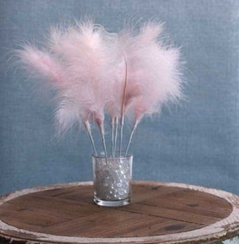 Fluff Feather Bunch x 6 Baby Pink