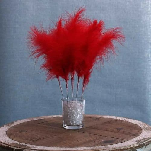 Fluff Feather Bunch x 6 Red