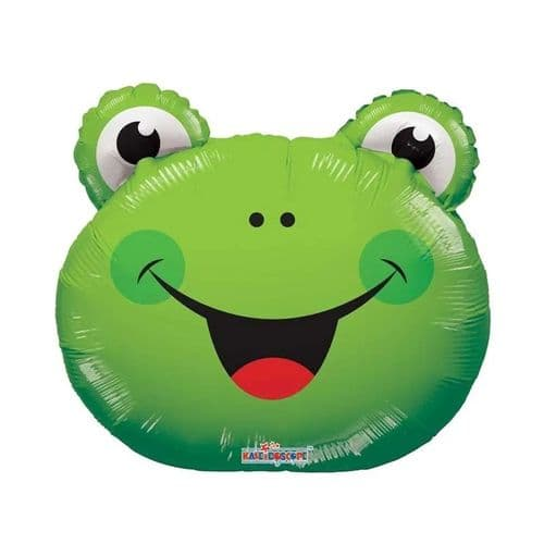 Frog Balloon - Uninflated - Requires Heat Seal (14 inch)