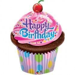 """FROSTED CUPCAKE BIRTHDAY 35"""" SHAPE GROUP B PKT"""