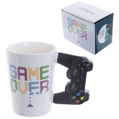 GAME OVER Game Controller Shaped Handle Mug gift