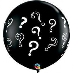 GENDER REVEAL 3' QUESTION MARKS ONYX BLACK (2CT)