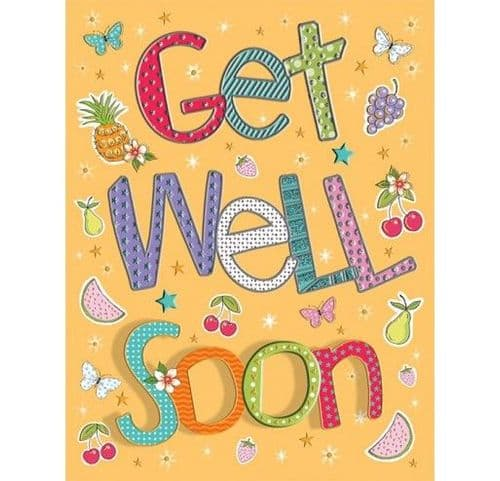 GET WELL C80298 Pizzaz pack of 6