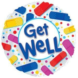 GET WELL COLOURFUL BANDAIDS FOIL BALLOONS