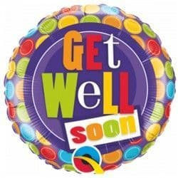 """GET WELL PATTERNED DOTS 18"""" PKT"""
