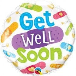 """GET WELL SOON BANDAGES 18"""" PKT"""