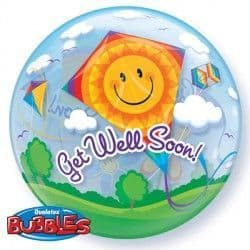"GET WELL SOON! KITES 22"" SINGLE BUBBLE"
