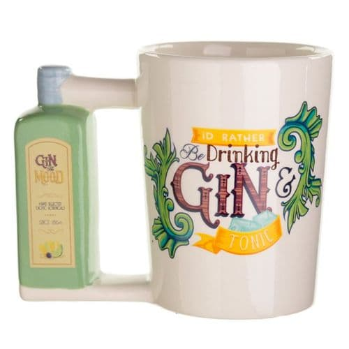 Gin Bottle Shaped Handle Mug gift