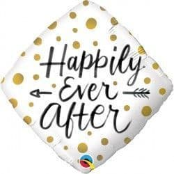 "GOLD DOTS HAPPILY EVER AFTER 18"" PKT"