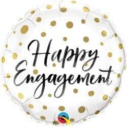 "GOLD DOTS HAPPY ENGAGEMENT 18"" PKT"