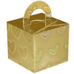 GOLD HOLO HEARTS BOUQUET BOX 10CT