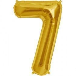 "GOLD NUMBER 7 SHAPE 16"" PKT"
