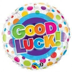 """GOOD LUCK COLOURFUL DOTS 18"""" PKT"""