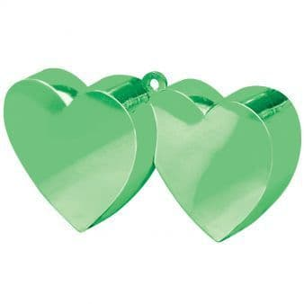 Green Double Heart Balloon Weights 170g/6oz - 12 PC