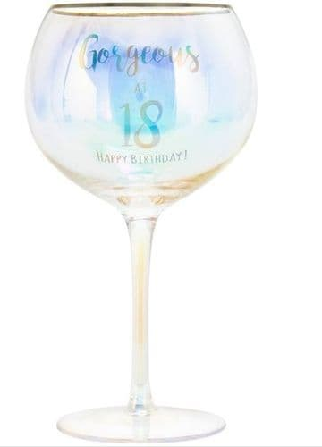 HAPPY 18TH GLASS gift